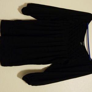 Black churchy flowy shirt